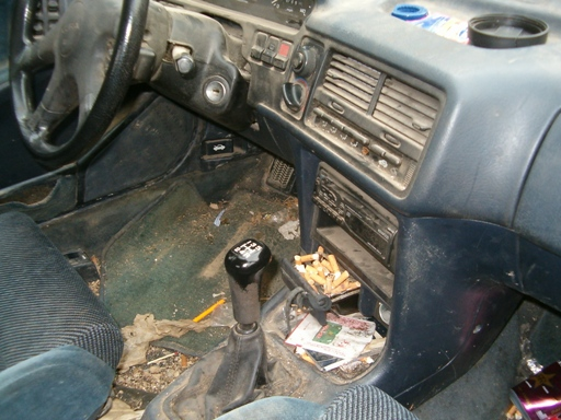Trashed Car Inside